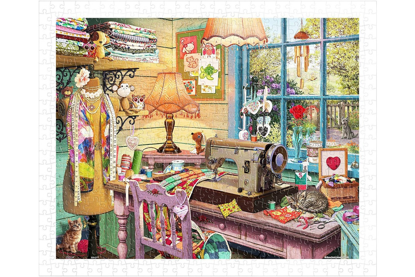 Puzzle din plastic Pintoo - Steve Read: Sewing Shed, 500 piese (H1931) imagine