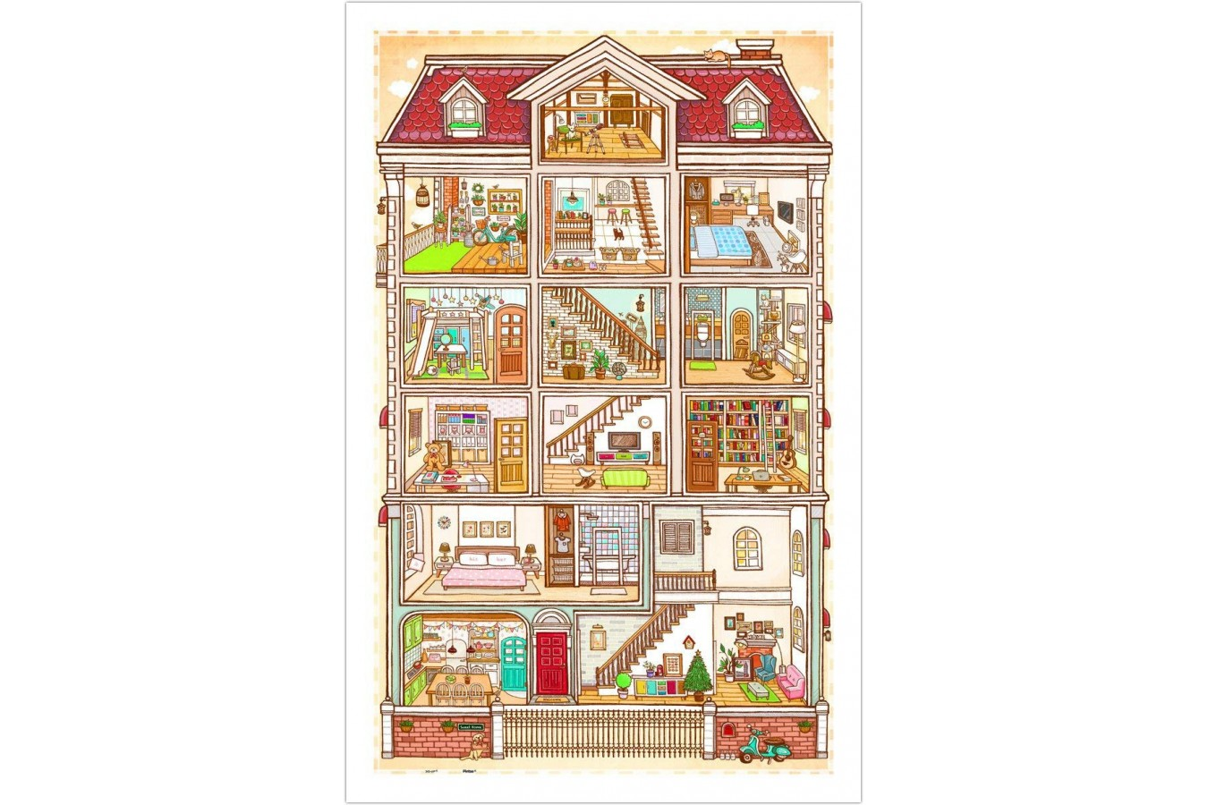 Puzzle din plastic Pintoo - Sweet Home, 1.000 piese (H1643) imagine