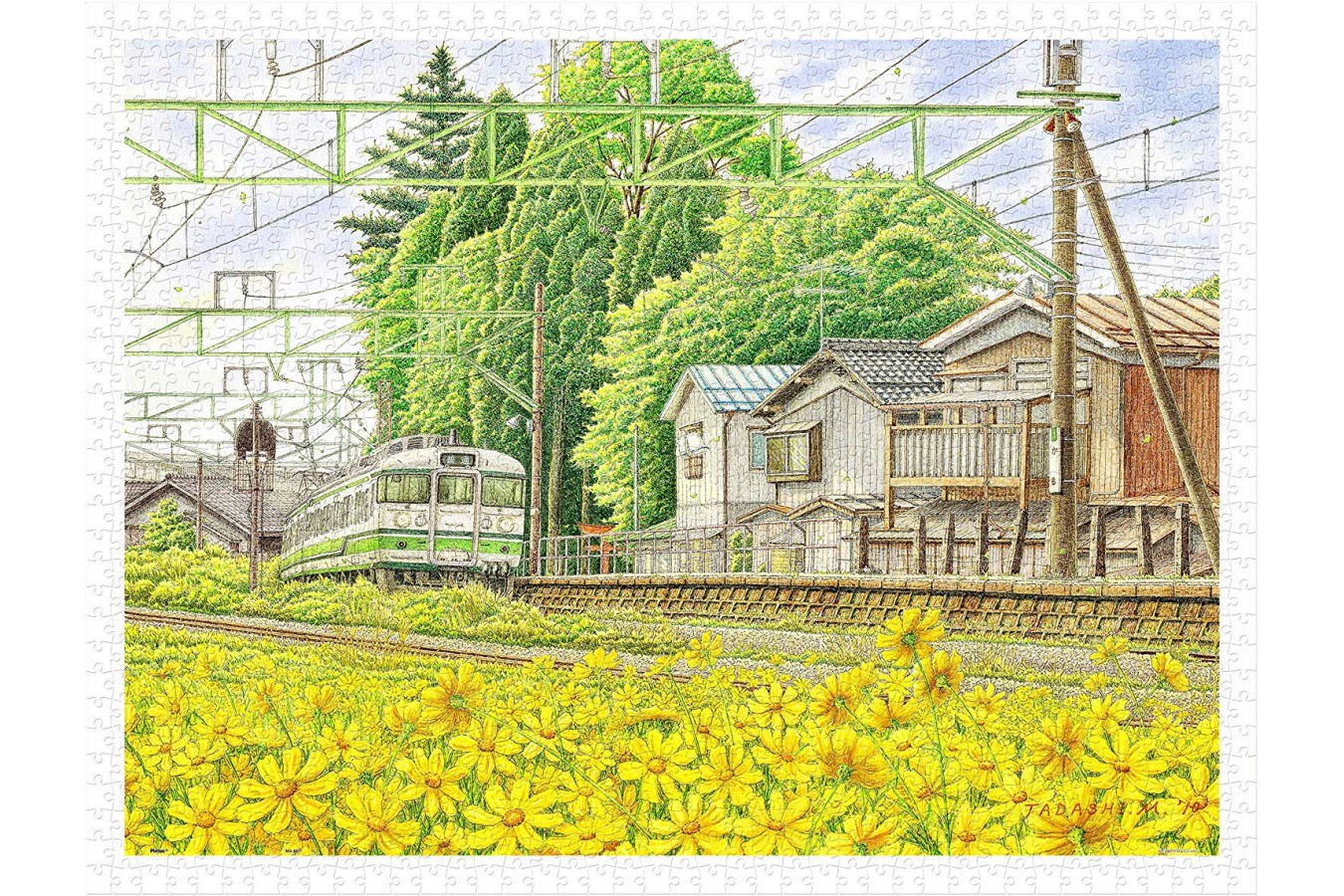 Puzzle din plastic Pintoo - Tadashi Matsumoto: Scattering Brilliance, 1200 piese (H2161) imagine