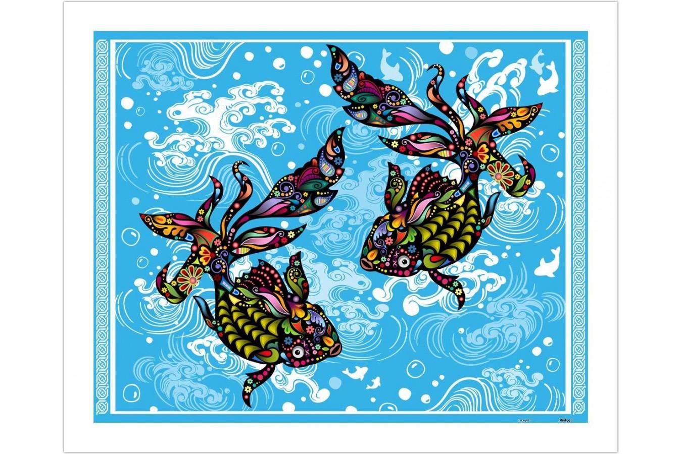 Puzzle din plastic Pintoo - The Brilliant Goldfish, 500 piese (H1771) imagine