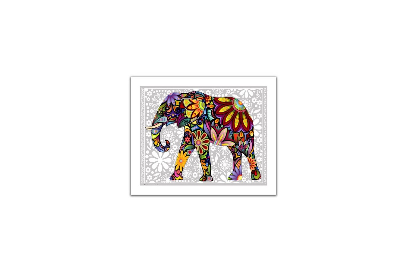Puzzle din plastic Pintoo - The enthusiastic elephant, 500 piese (H1479) imagine