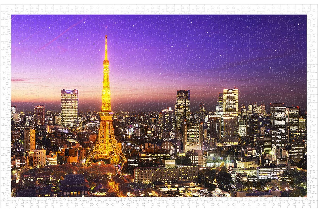 Puzzle din plastic Pintoo - Tokyo Tower, Japan, 1.000 piese (H1769) imagine