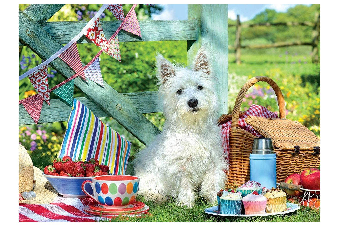 Puzzle Eurographics - Scottie Dog Picnic, 500 piese XXL (8500-5461) imagine