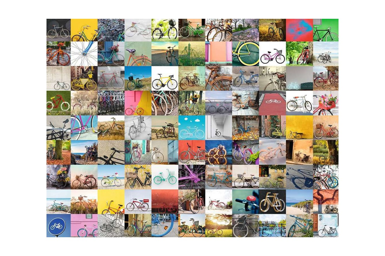 Puzzle Ravensburger - 99 Bikes and More ..., 1500 piese (16007) imagine