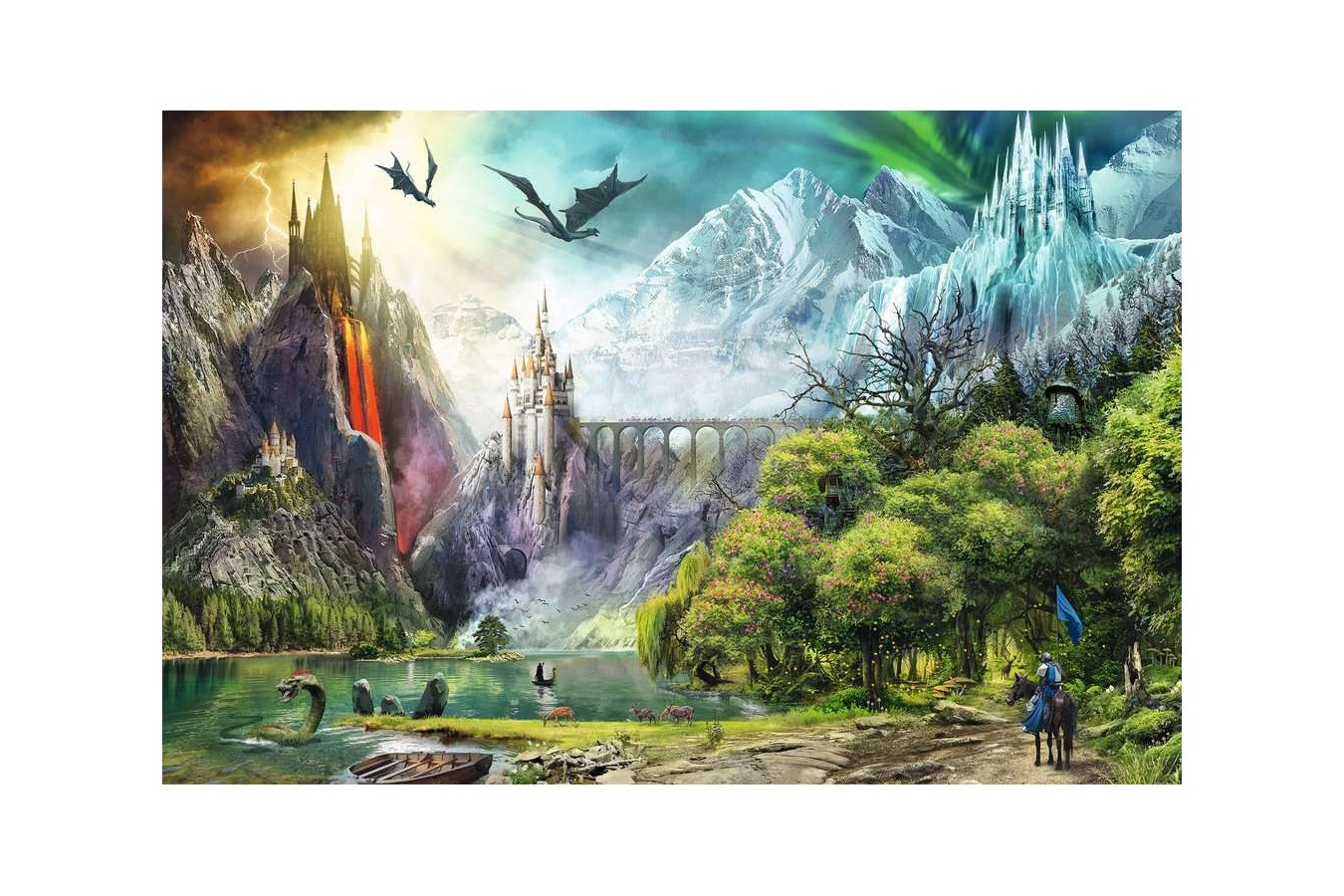 Puzzle Ravensburger - Reign of Dragons, 3.000 piese (16462)