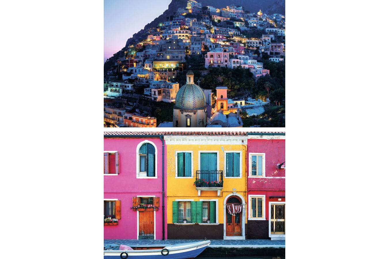 Pachet Promo Ravensburger Burano + Positano, 2x1.000 piese imagine