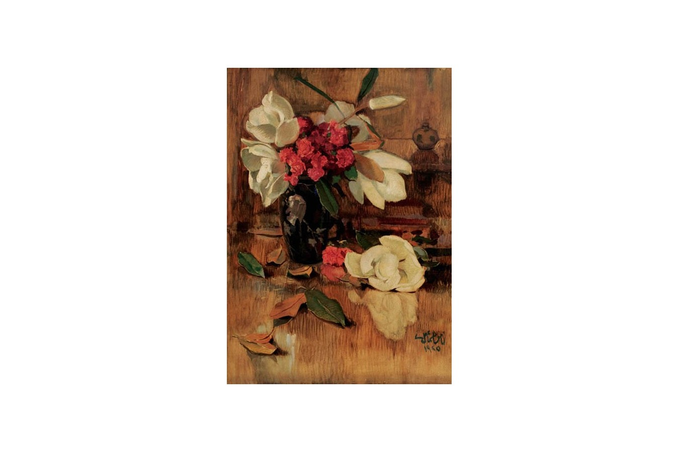 Puzzle Gold Puzzle - Namik Ismail: Magnolia and Clavels, 1.000 piese (Gold-Puzzle-60324) imagine
