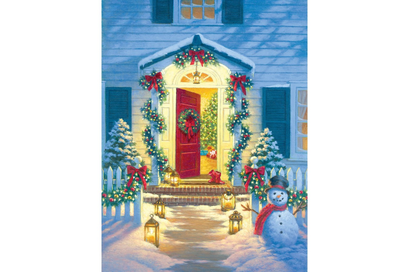 Puzzle SunsOut - Corbert Gauthier: Christmas Porch, 500 piese (Sunsout-55942) imagine