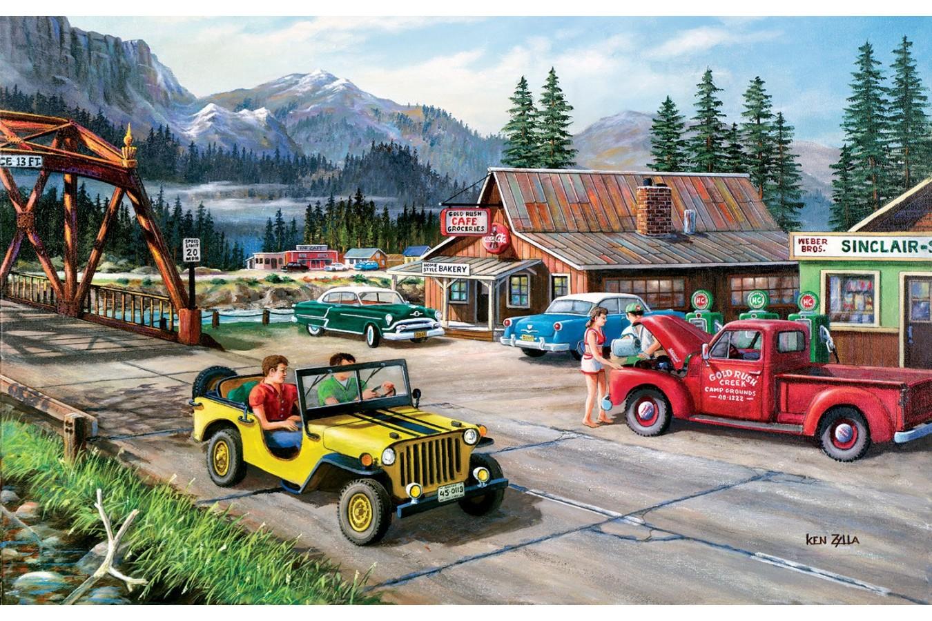 Puzzle SunsOut - Ken Zylla: Alaskan Road Trip, 550 piese (Sunsout-39364) imagine