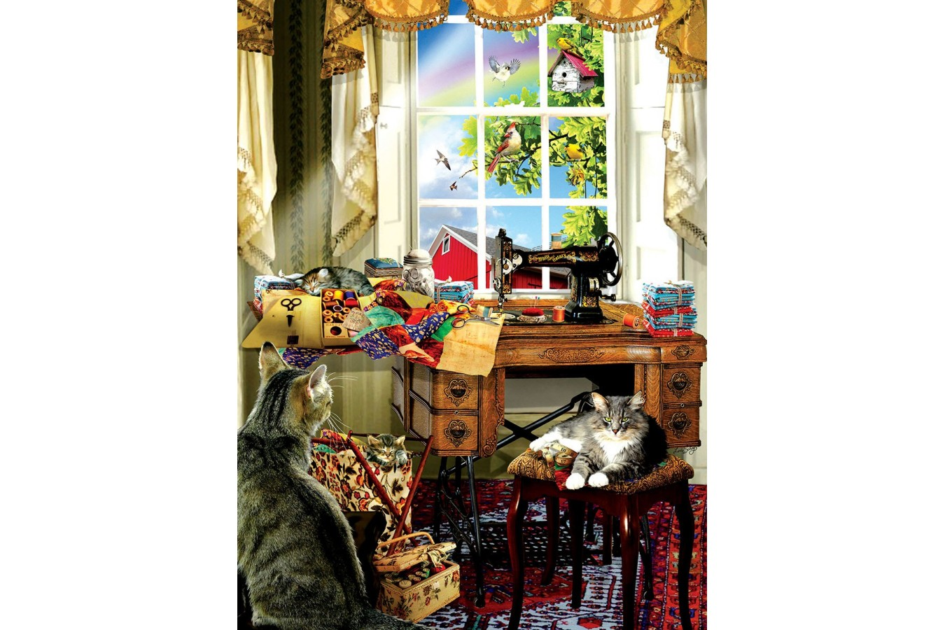 Puzzle SunsOut - Lori Schory: The Sewing Room, 300 piese XXL (Sunsout-34981) imagine