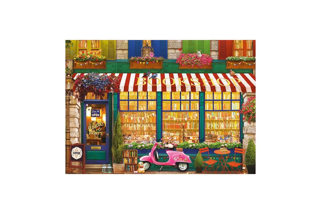 Puzzle Educa - Olena S: Vintage Bookshop, 4.000 piese (18582)