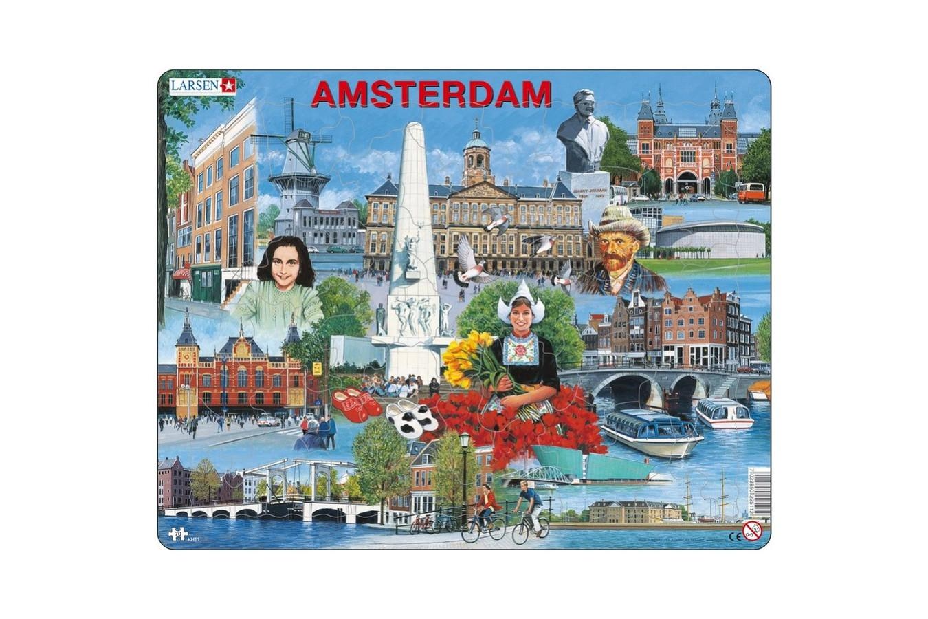 Puzzle Larsen - Amsterdam, 70 piese (KH11-NL) imagine