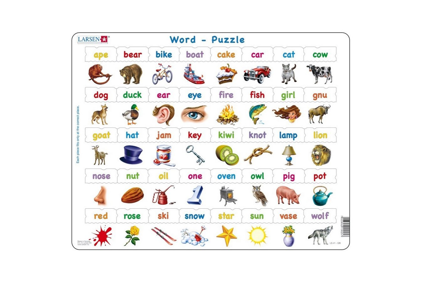 Puzzle Larsen - Learn to read, 40 piese (LS41-GB) imagine