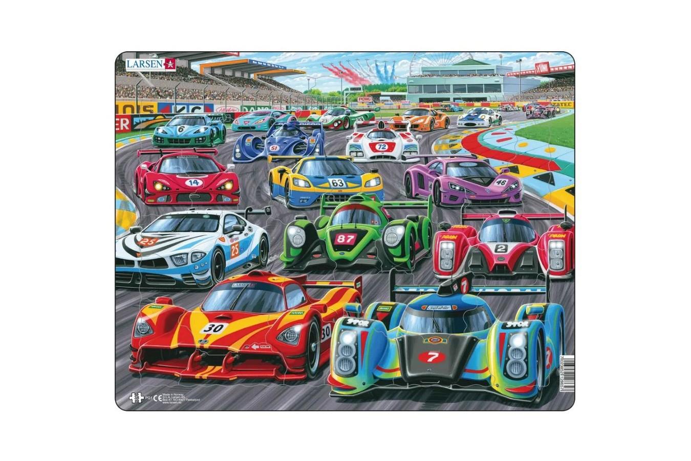 Puzzle Larsen - Racing Cars, 38 piese (PG1) imagine