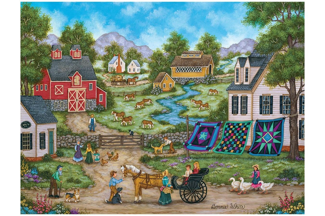 Puzzle Master Pieces - Heartland - Roadside Gossip, 550 piese (Master-Pieces-31682) imagine