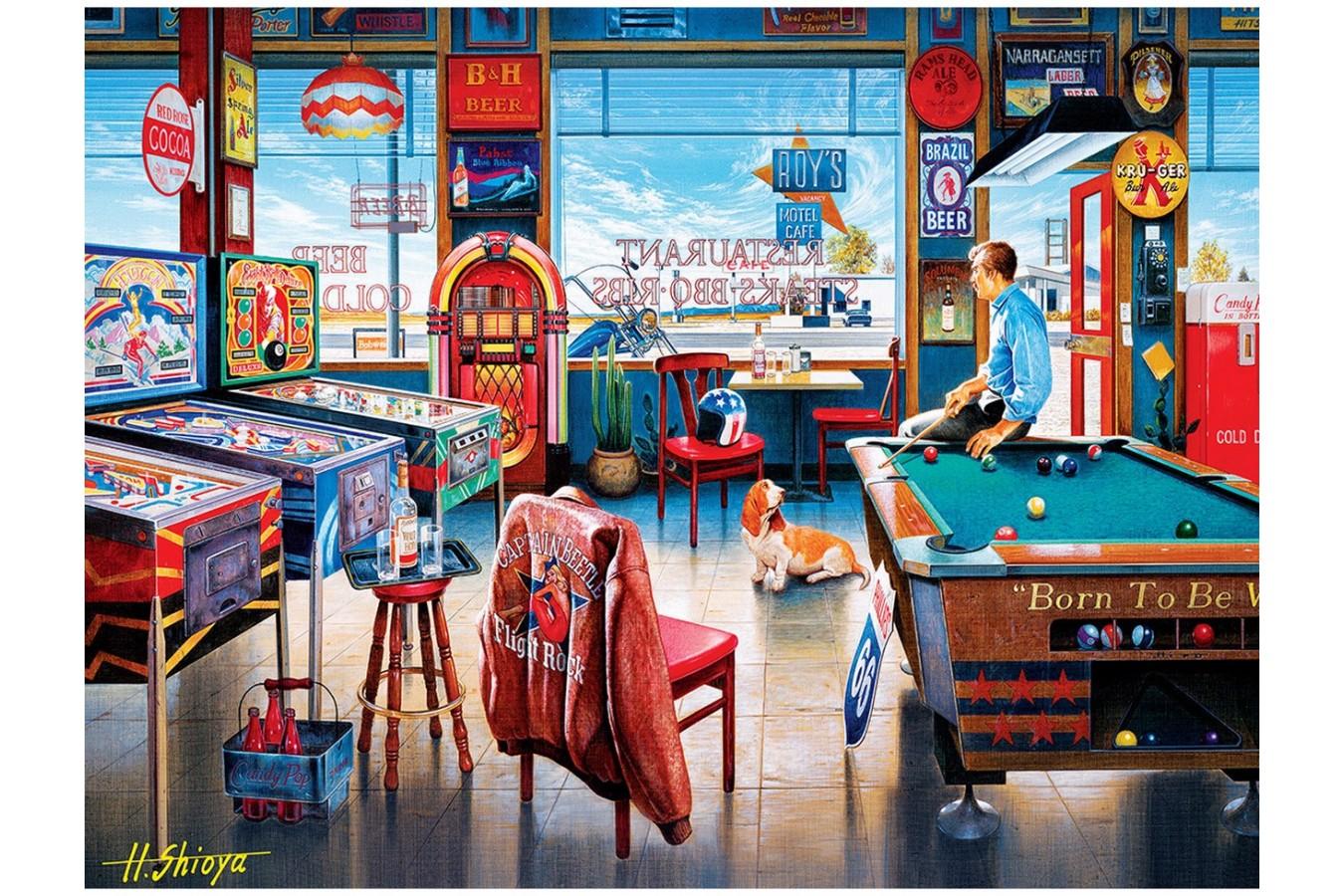 Puzzle Master Pieces - Pockets Pool & Pub, 550 piese (Master-Pieces-31927) imagine