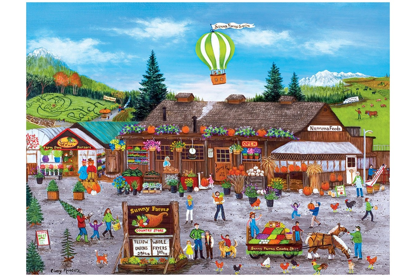 Puzzle Master Pieces - Sunny Farms, 750 piese (Master-Pieces-31985) imagine