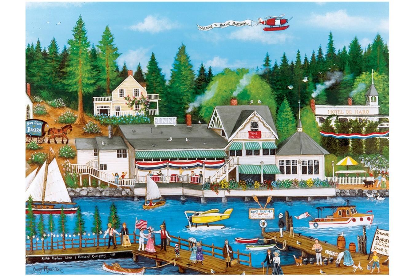 Puzzle Master Pieces - Roche Harbor, 750 piese (Master-Pieces-31986) imagine