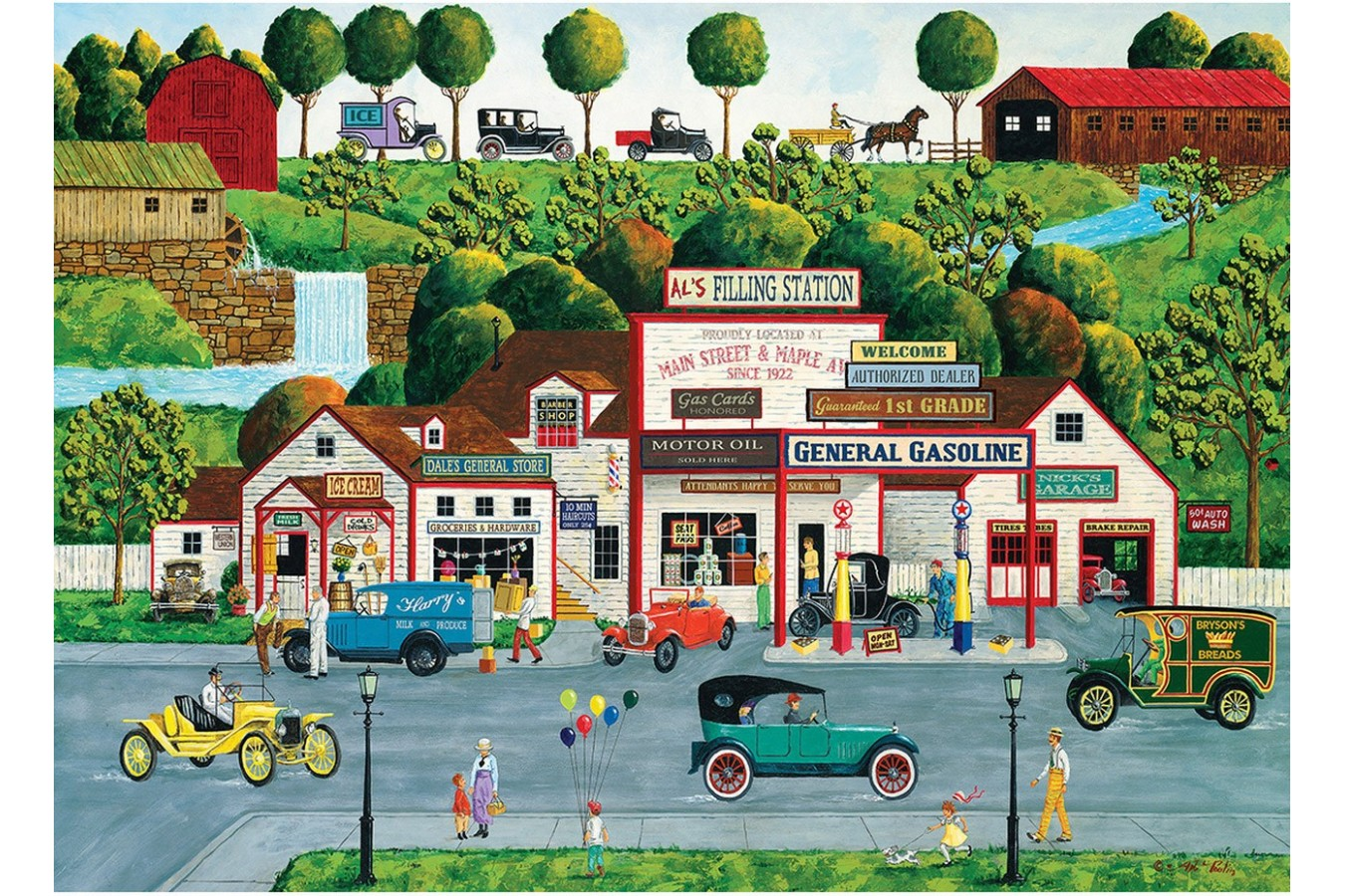 Puzzle Master Pieces - The Old Filling Station, 1.000 piese (Master-Pieces-71626) imagine