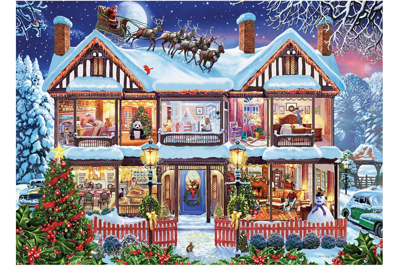 Puzzle Master Pieces - Home for the Holidays, 1.000 piese (Master-Pieces-71915) imagine