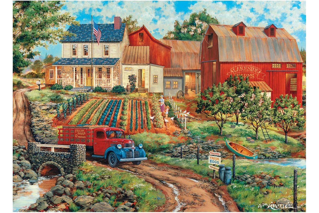 Puzzle Master Pieces - Grandma's Garden, 1.000 piese (Master-Pieces-71921) imagine