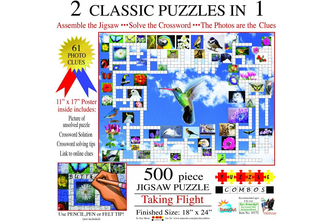 Puzzle SunsOut - Irv Brechner: Puzzle Combo: Taking Flight, 500 piese (Sunsout-10172) imagine