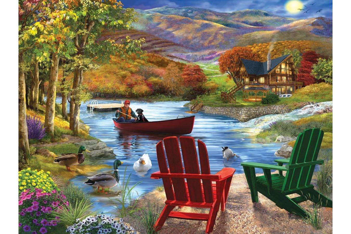 Puzzle SunsOut - Lake Life, 1.000 piese (Sunsout-31504) imagine