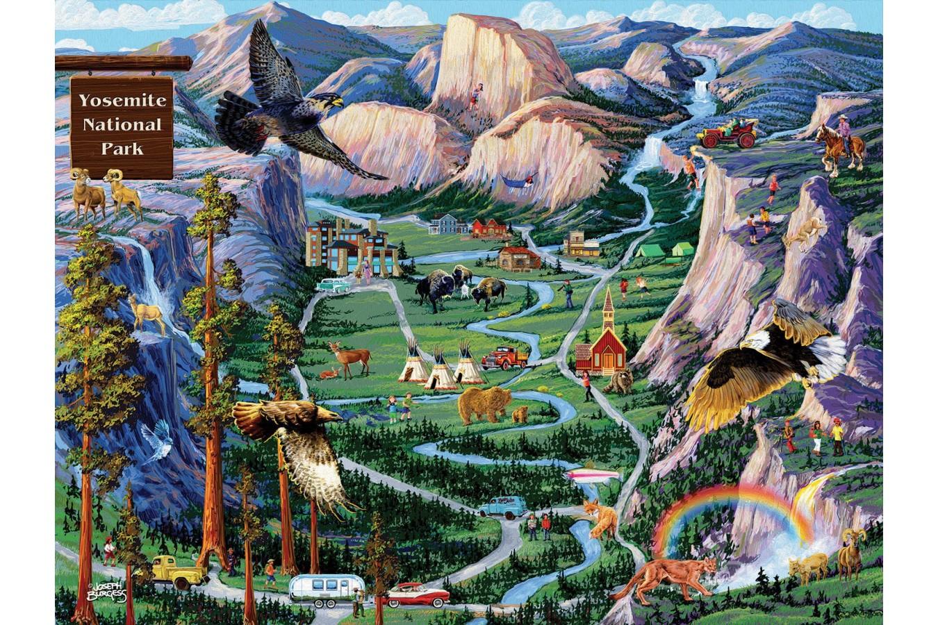 Puzzle SunsOut - Joseph Burgess: Yosemite Adventures, 500 piese (Sunsout-38890) imagine