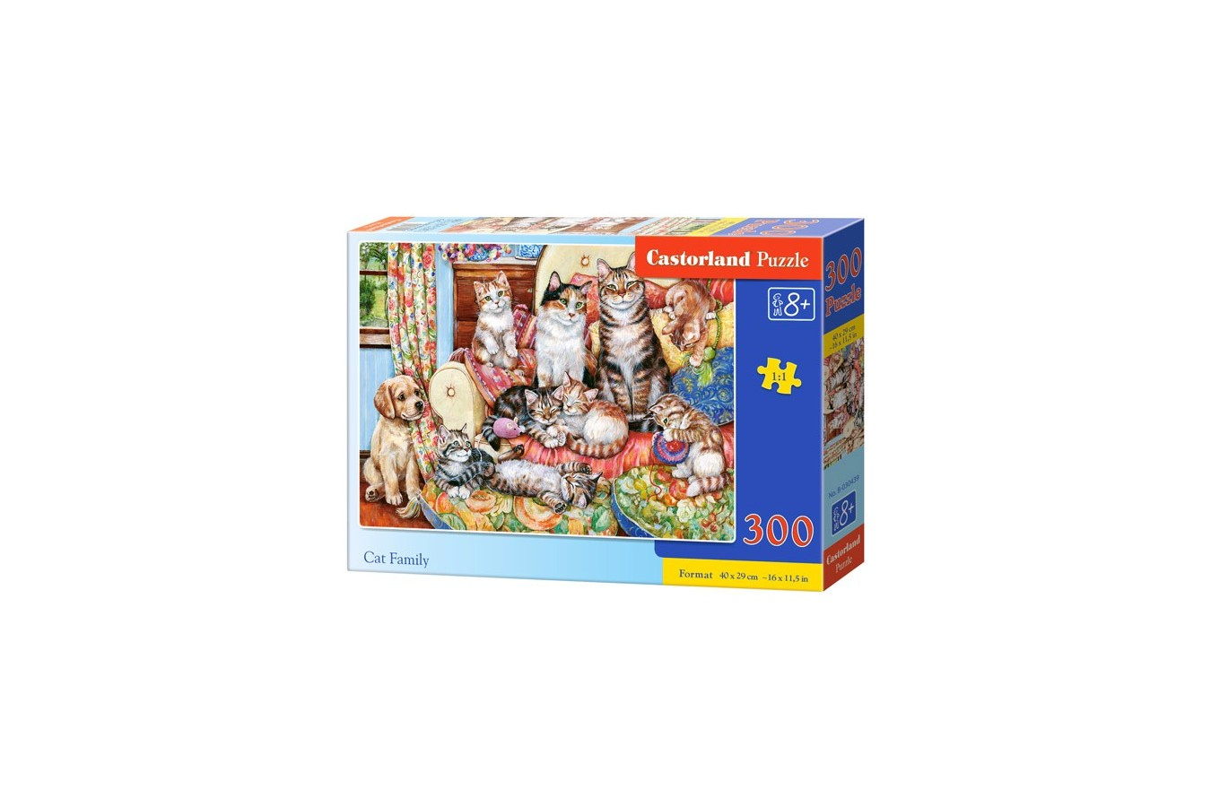 Puzzle Castorland - Cat Family, 300 piese (030439)