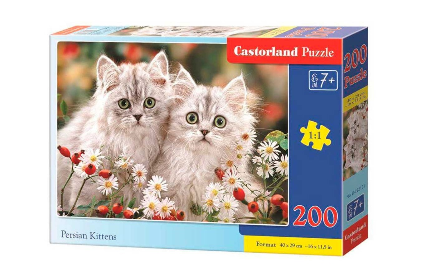 Puzzle Castorland - Persian Kittens, 200 piese (222131)