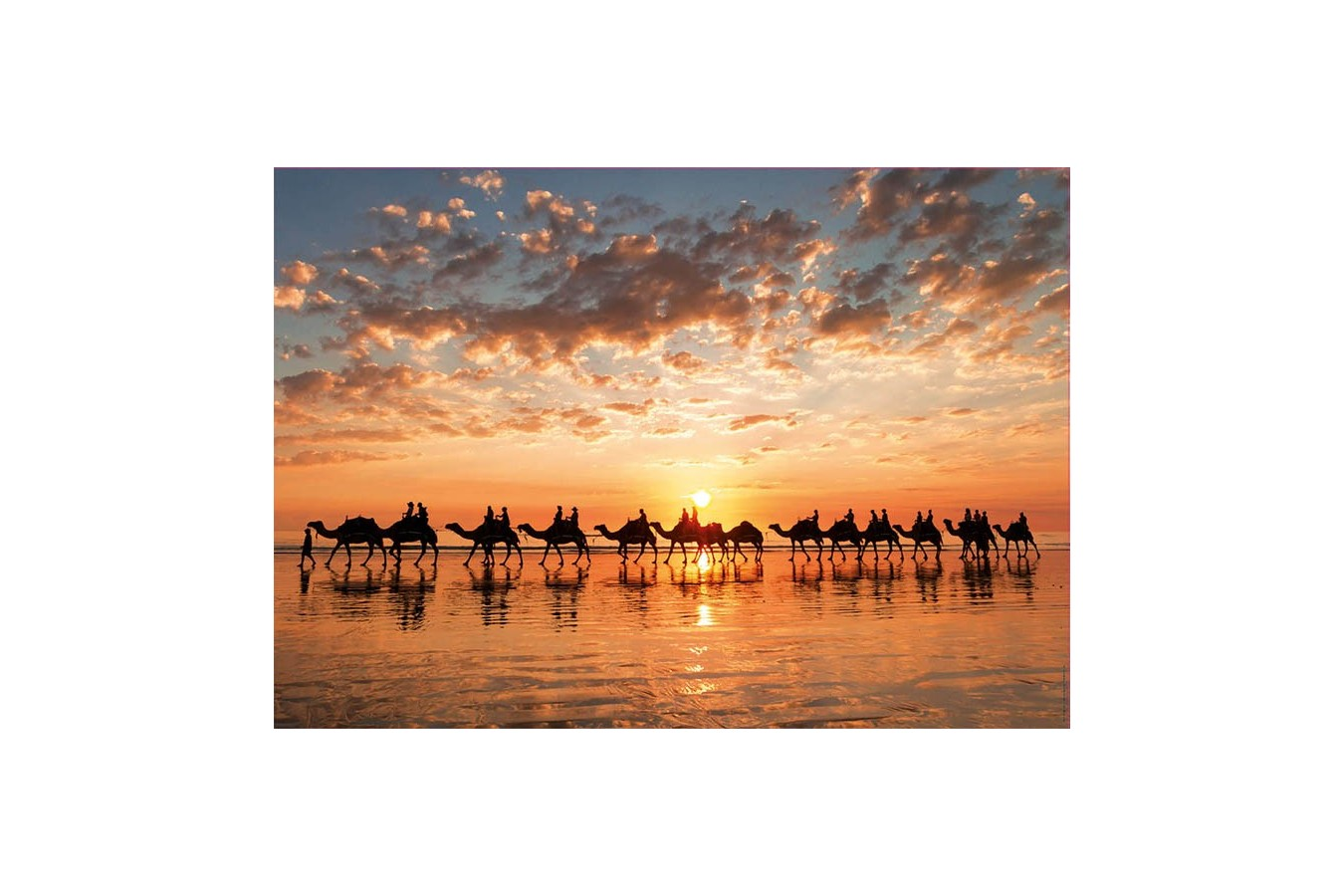 Puzzle Educa - Sunset In Beach Cable, 1.000 piese (18492)