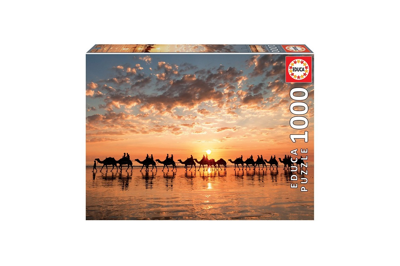 Puzzle Educa - Sunset In Beach Cable, 1.000 piese (18492) - 1