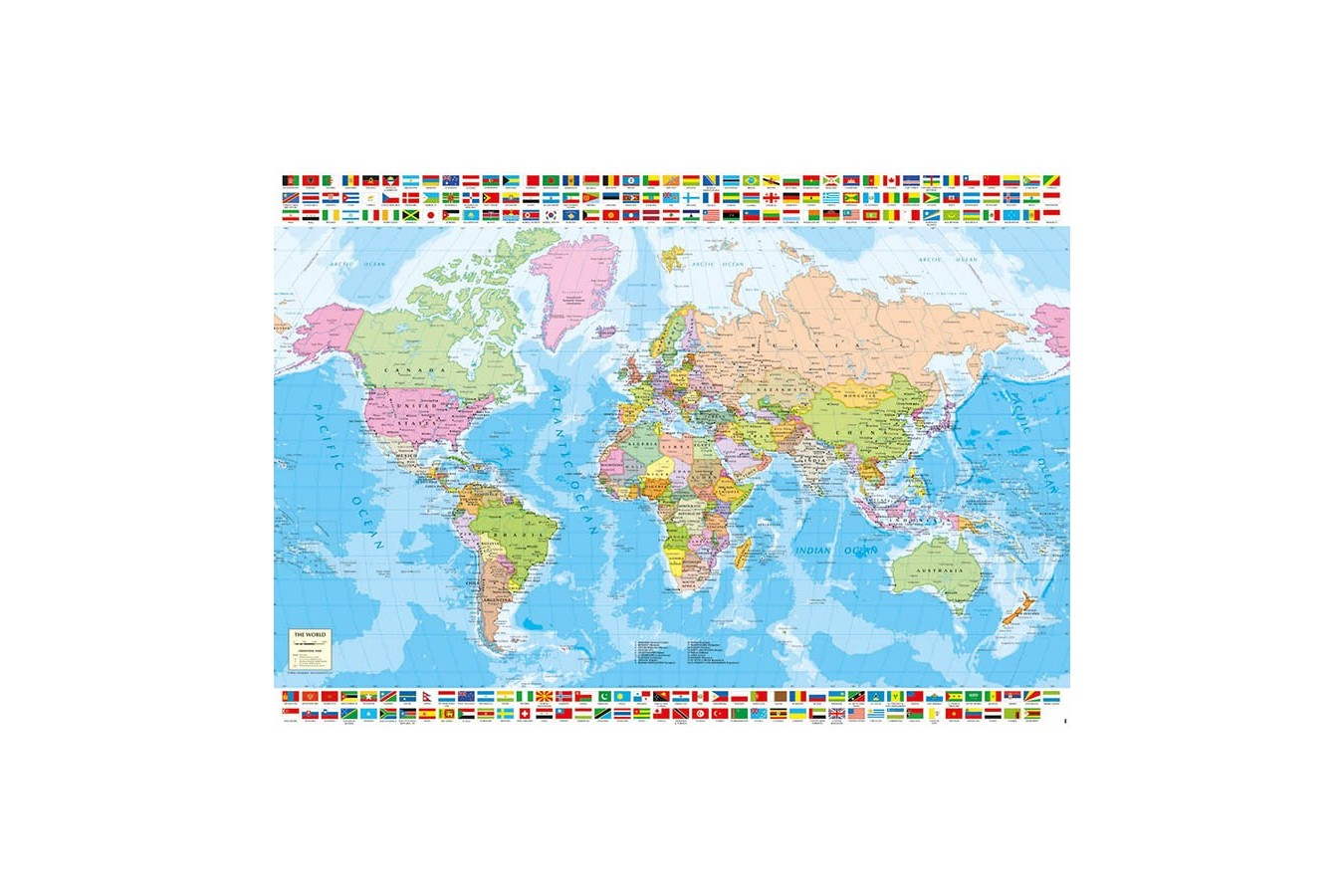 Puzzle Educa - Political World Map, 1500 piese (18500)