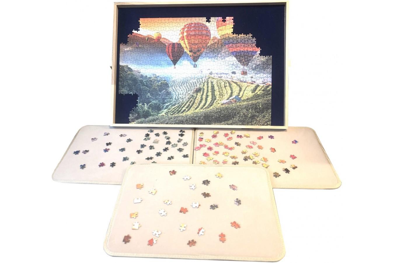 Masa Deluxe pentru puzzle de 1000 de piese, cu 3 tavi pentru sortare imagine
