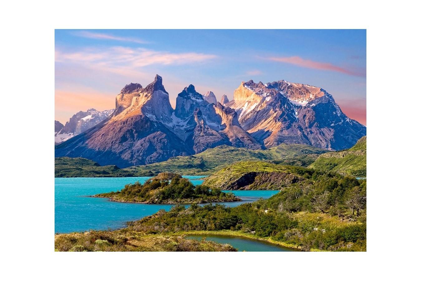 Puzzle Castorland - Torres del Paine, Patagonia, Chile, 1.500 piese (15095) imagine