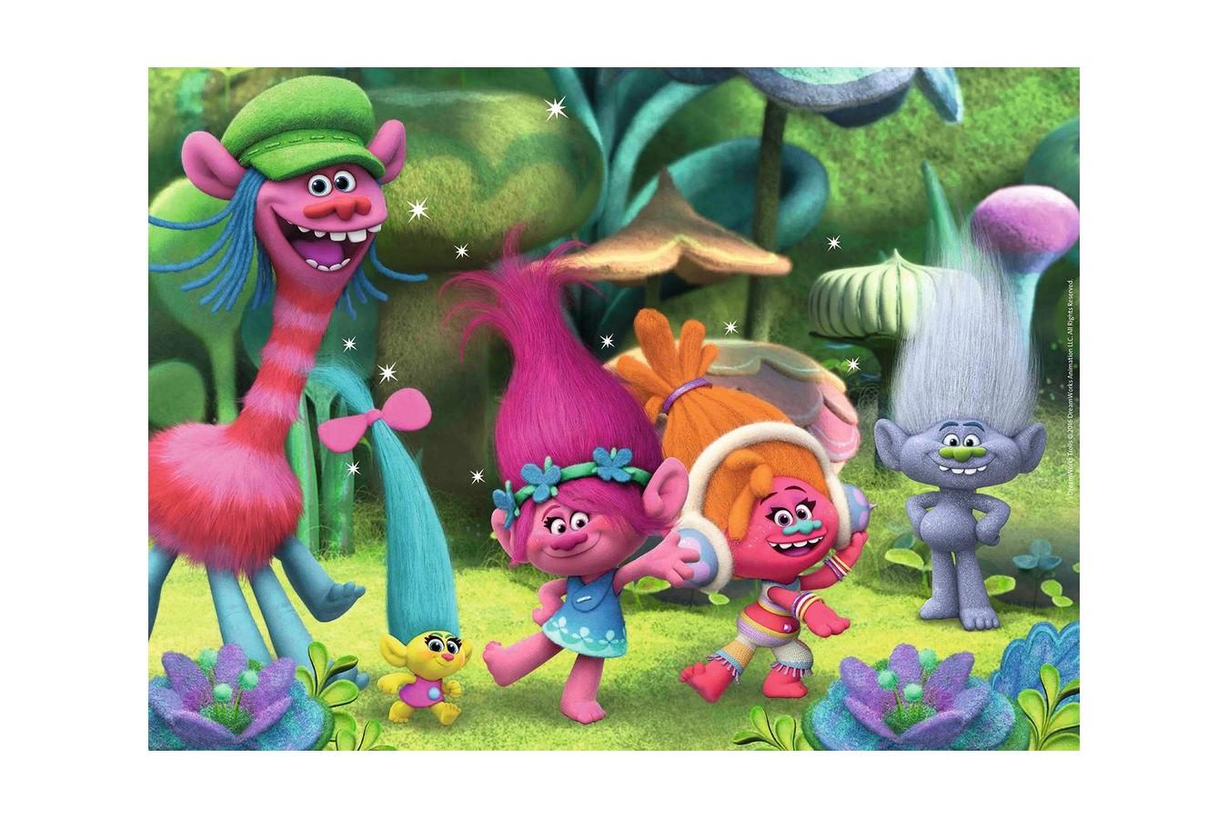 Puzzle Ravensburger - Lumea Trolls, 150 piese (10033) imagine