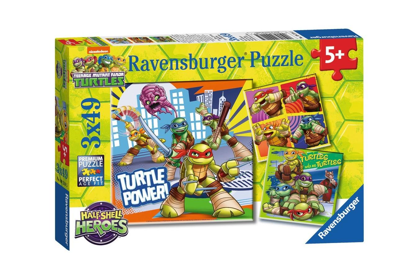 Puzzle Ravensburger - Testoasele Ninja, 3x49 piese (09218) imagine