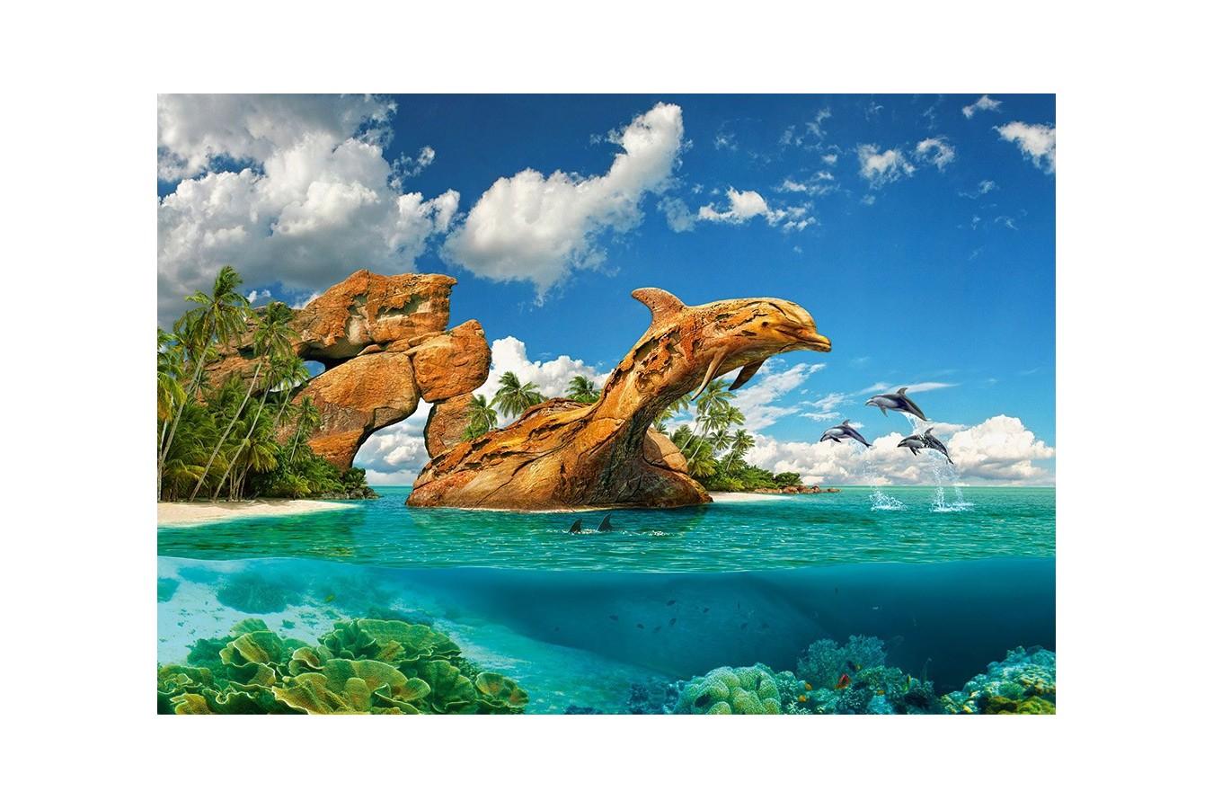 Puzzle Castorland - Dophin Paradise, 1000 piese imagine