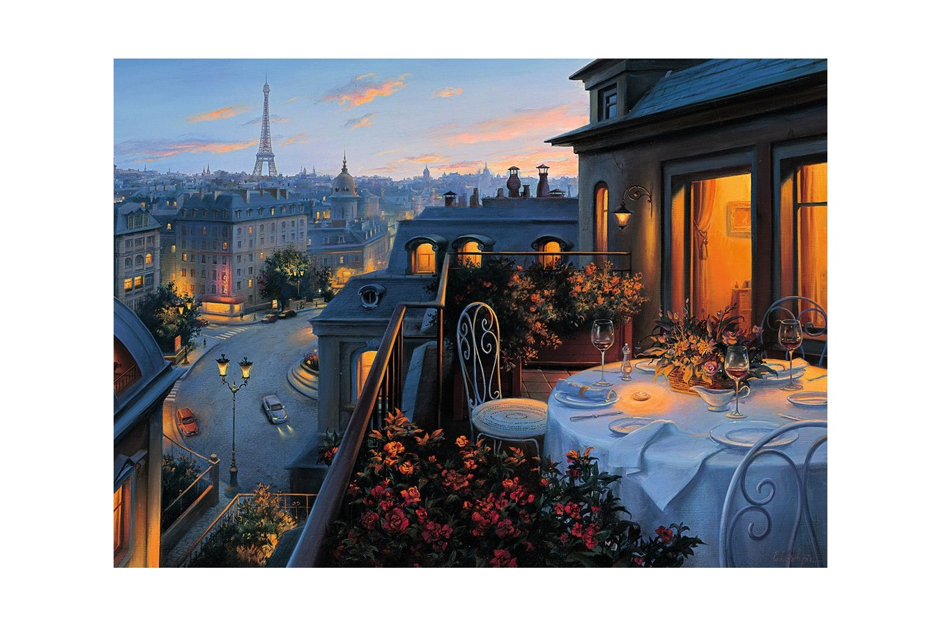 Puzzle Ravensburger - Balconul Parisului, 1.000 piese (19410) imagine