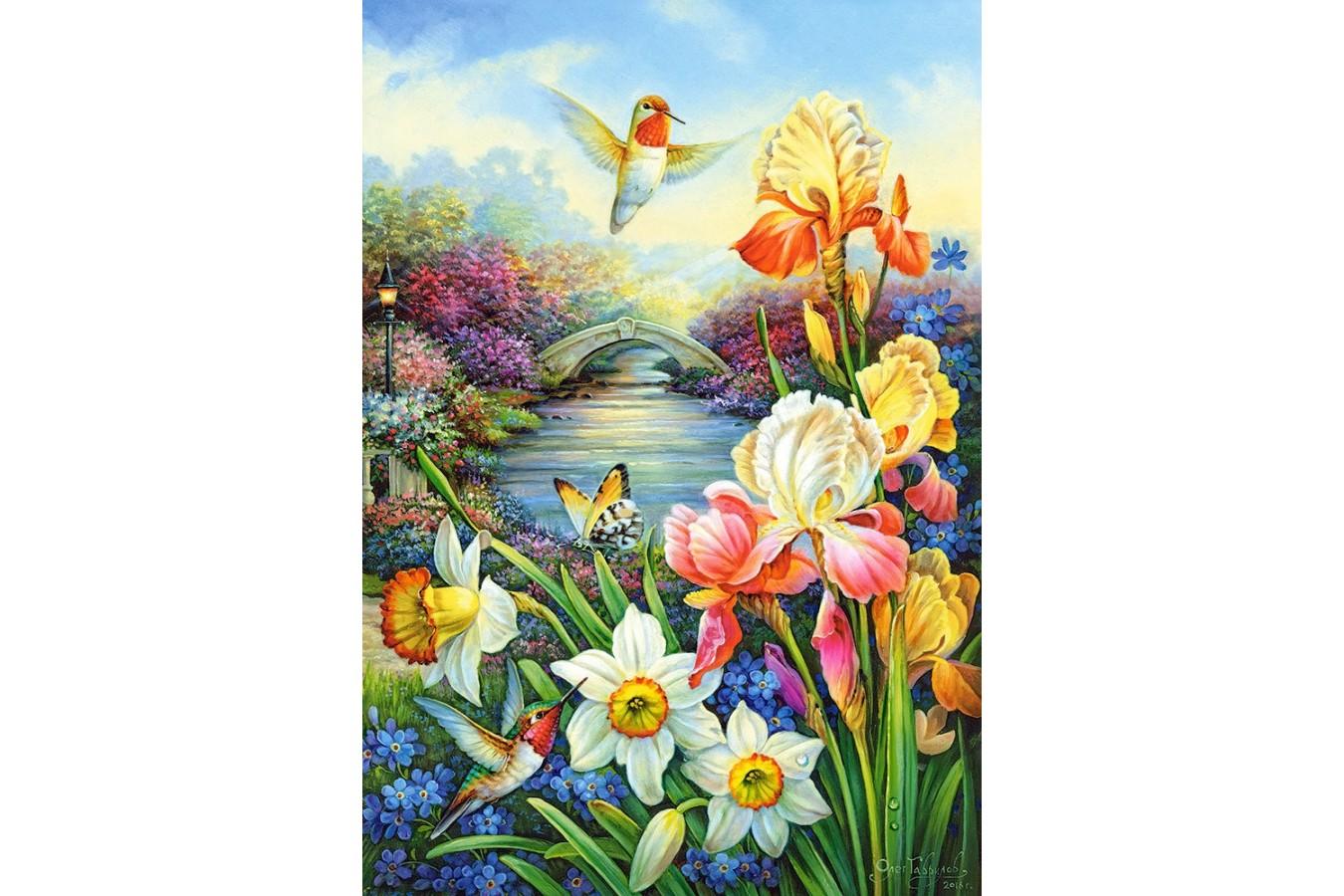 Puzzle Castorland - Golden Irises, 1500 piese imagine