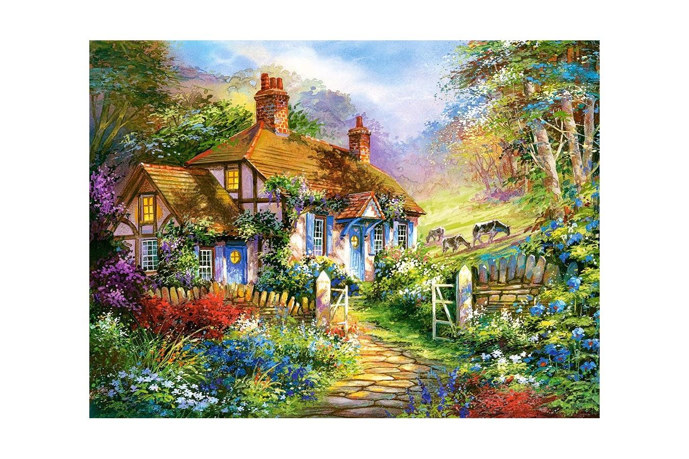Puzzle Castorland - Forest Cottage, 3000 piese imagine