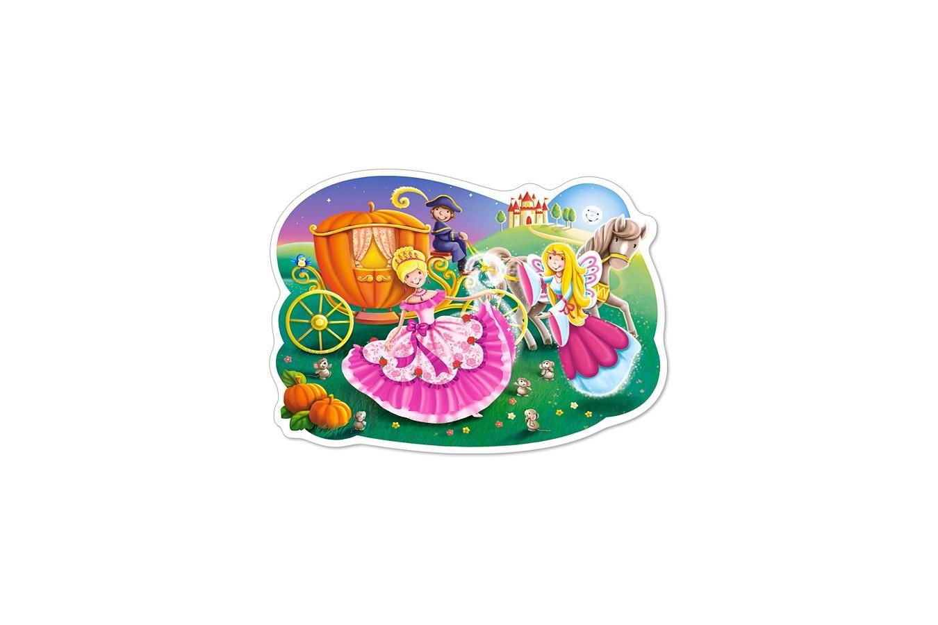 Puzzle Castorland Maxi - Cinderella, 12 Piese imagine