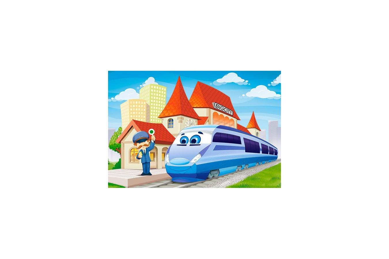 Puzzle Castorland Maxi - At The Railway, 40 Piese imagine