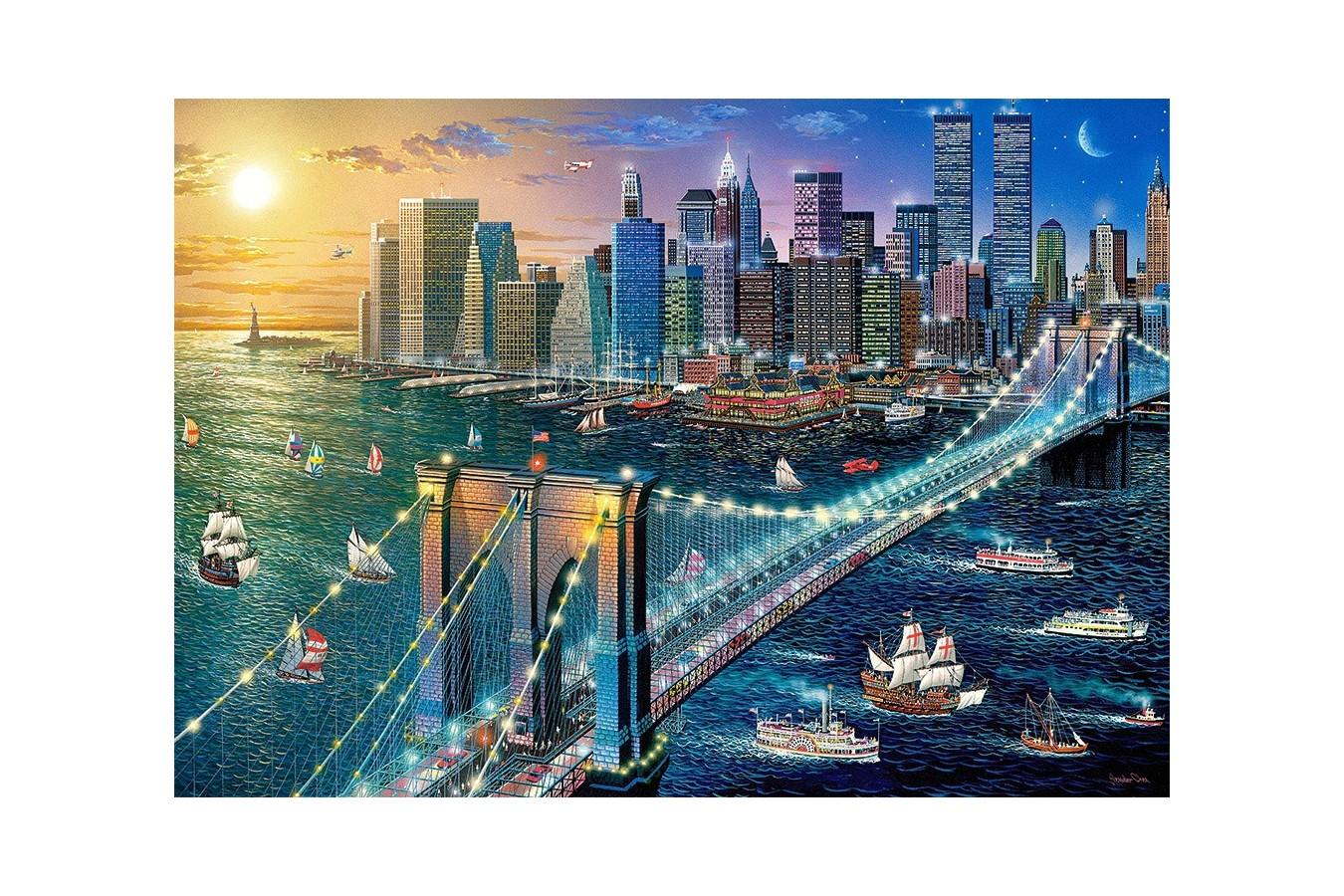 Puzzle Castorland - New York Brooklyn Bridge, 500 Piese imagine