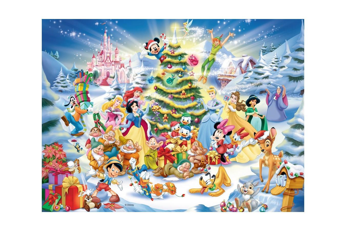 Puzzle Ravensburger - Craciunul In Familia Disney, 100 piese (10545) imagine