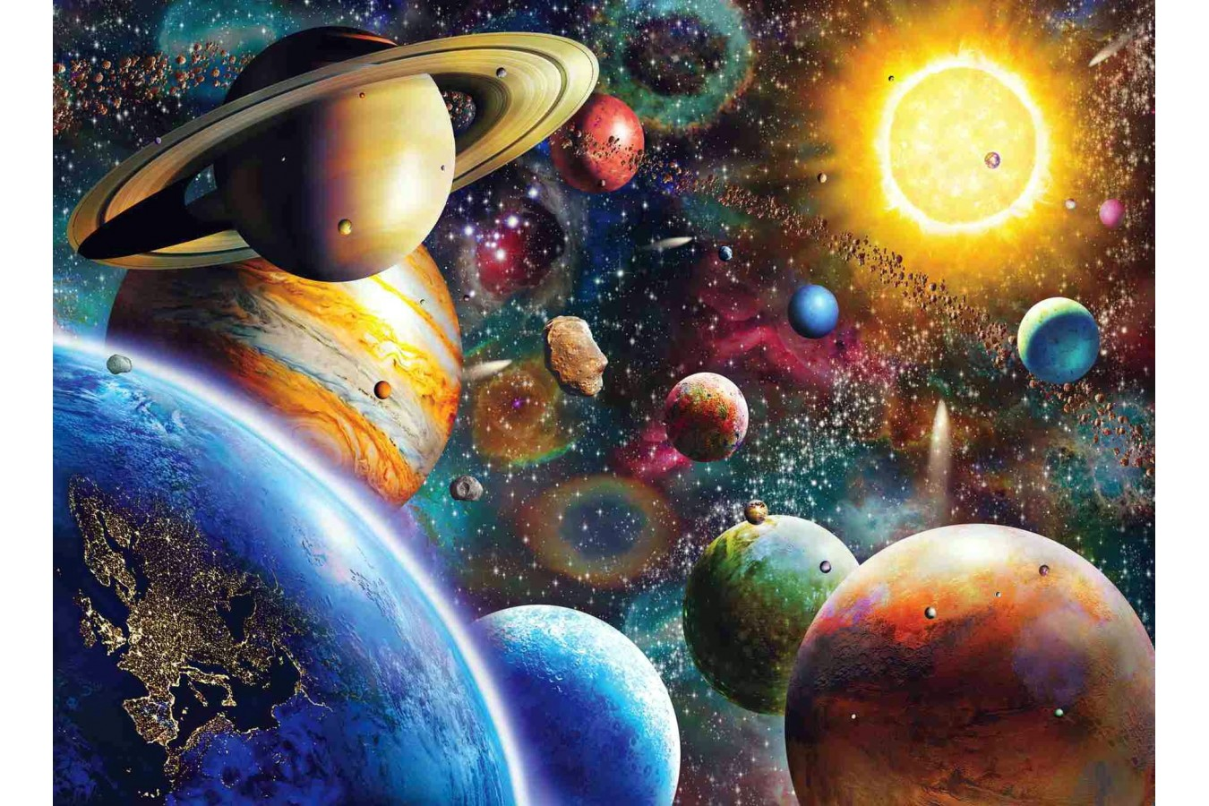Puzzle Anatolian - Planets in Space, 1000 piese (1033) imagine