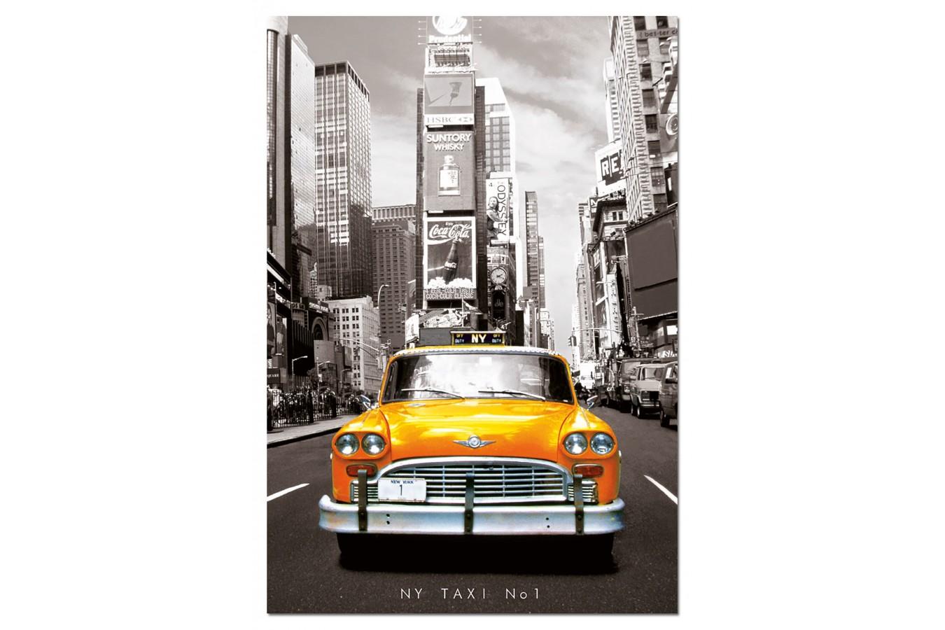 Puzzle Educa - Taxi nr. 1 New York, 1000 piese, include lipici puzzle (14468) imagine