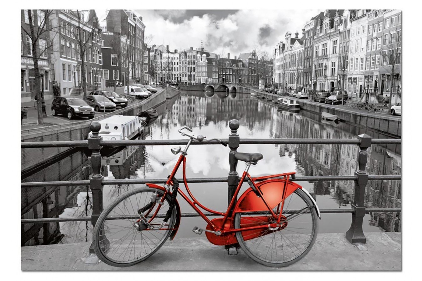 Puzzle Educa - The Canal, Amsterdam, Holland, 1000 piese, include lipici puzzle (14846) imagine