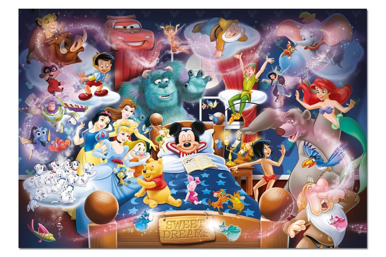 Puzzle Educa - Disney Family: Mickey's Dream, 1000 piese, include lipici puzzle (15190) imagine
