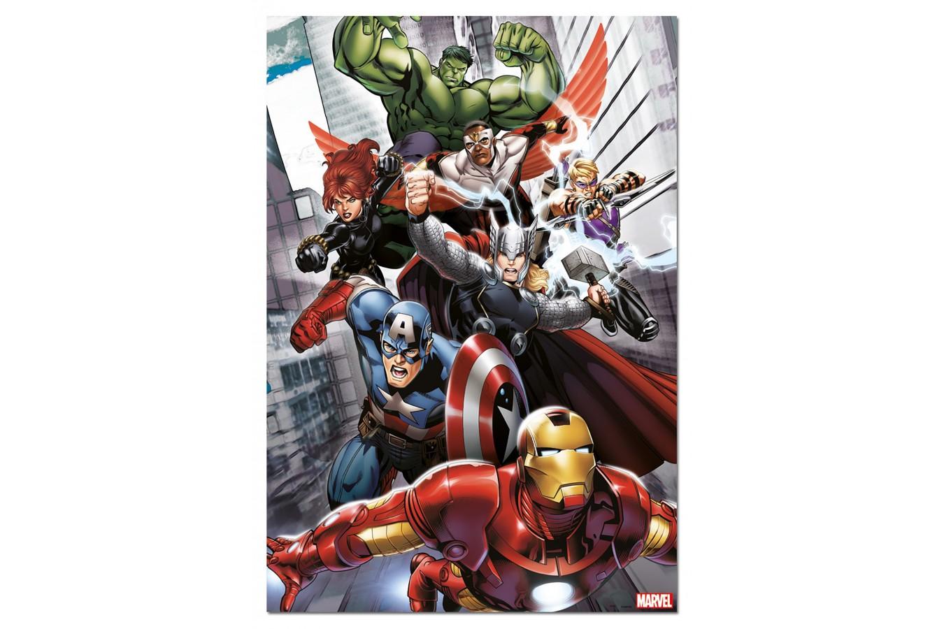 Puzzle Educa - Avengers, 500 piese, include lipici puzzle (15772) imagine